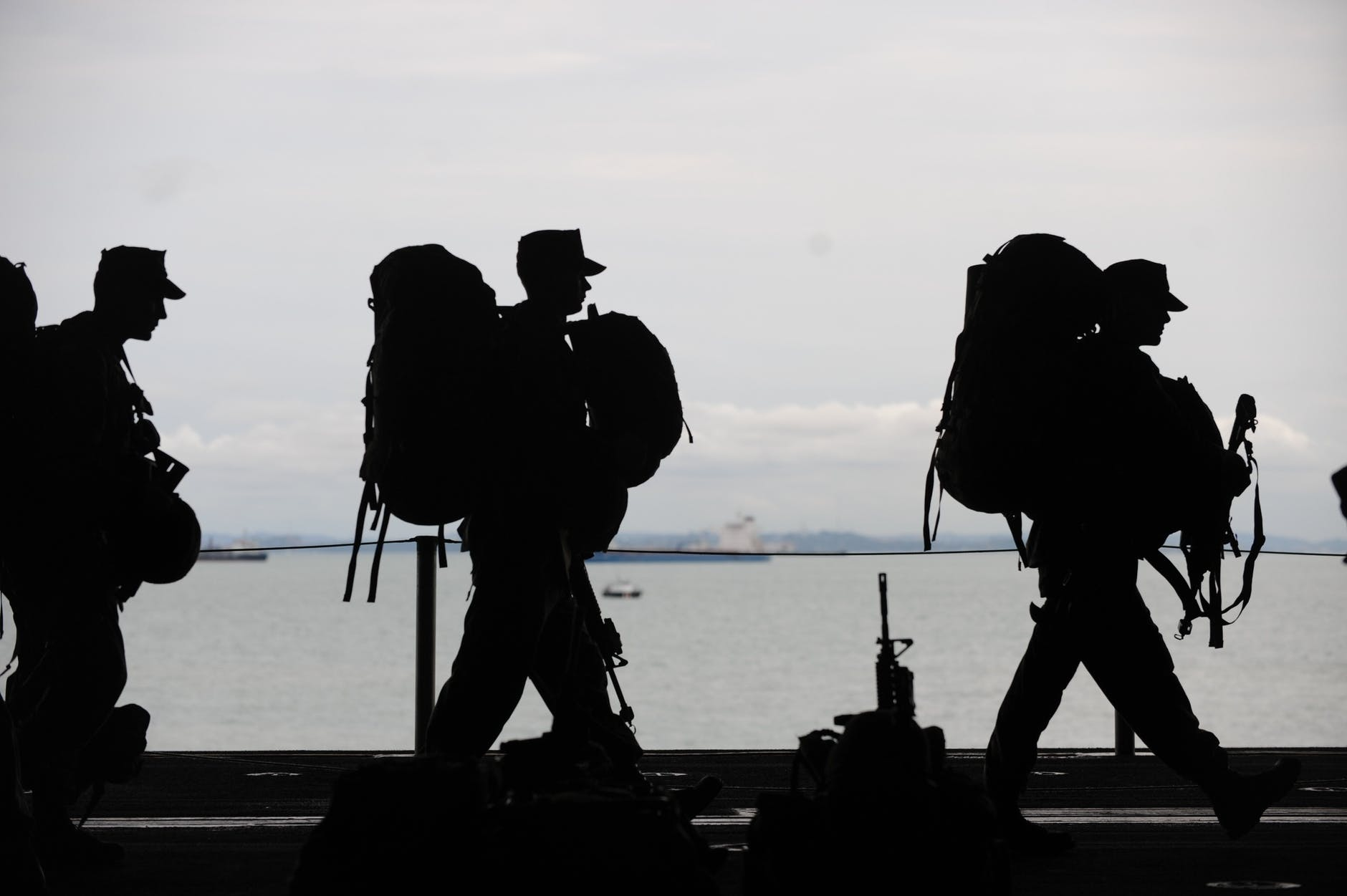 silhouette of soldiers walking (before a post military life)